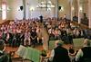 Festveranstaltung um 17 Uhr im Kulturheim, auf der Bühne die Blaskapelle Billed-Alexanderhausen. Foto: Cornel Gruber