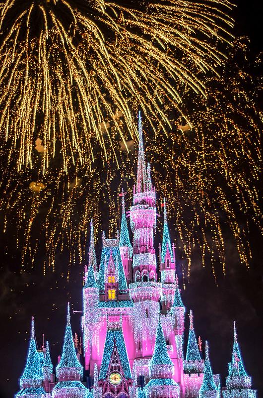 Christmas castle fireworks