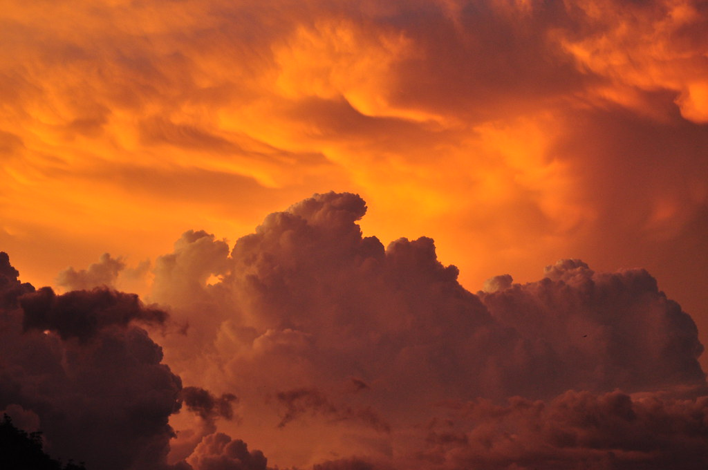 Storm Clouds during Sunset | Storm Clouds + Sunset ...
