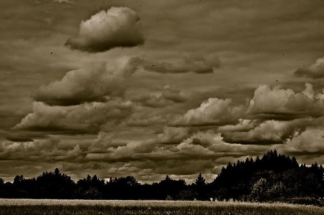 Clouds near the Evergreen Museum