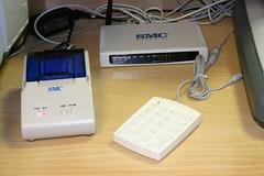 Router wifi conectado en la biblioteca