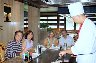 Chef gives the finishing touch at Memories of Japan | by Hari B
