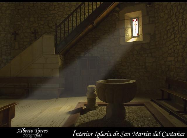 Interior Iglesia San Martin del Castañar