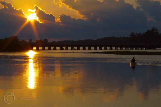 Canoe Sunset 8/09/11_HDR