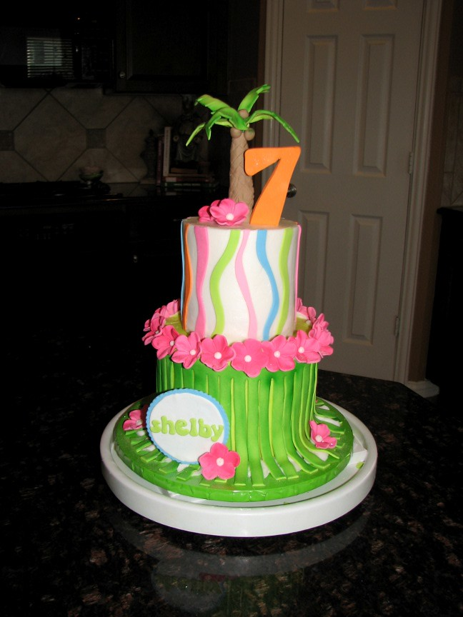 Enjoyable Shelbys 7Th Birthday Cake Made This One For My Second Dau Flickr Personalised Birthday Cards Epsylily Jamesorg