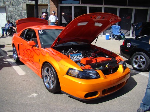 Terminator Cobra with Flames at the Sturgis, SD Mustang Ra ...