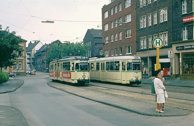 Trams at Recklinghausen Hbf in 1979