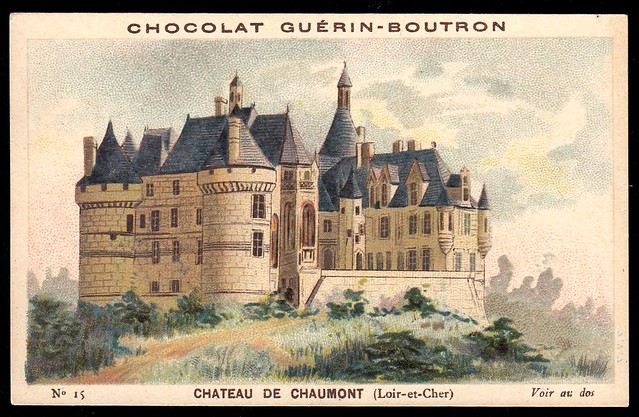 French Tradecard - Chateau de Chaumont