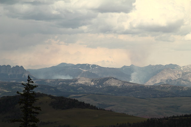 Fire North of Dubois, Wyoming