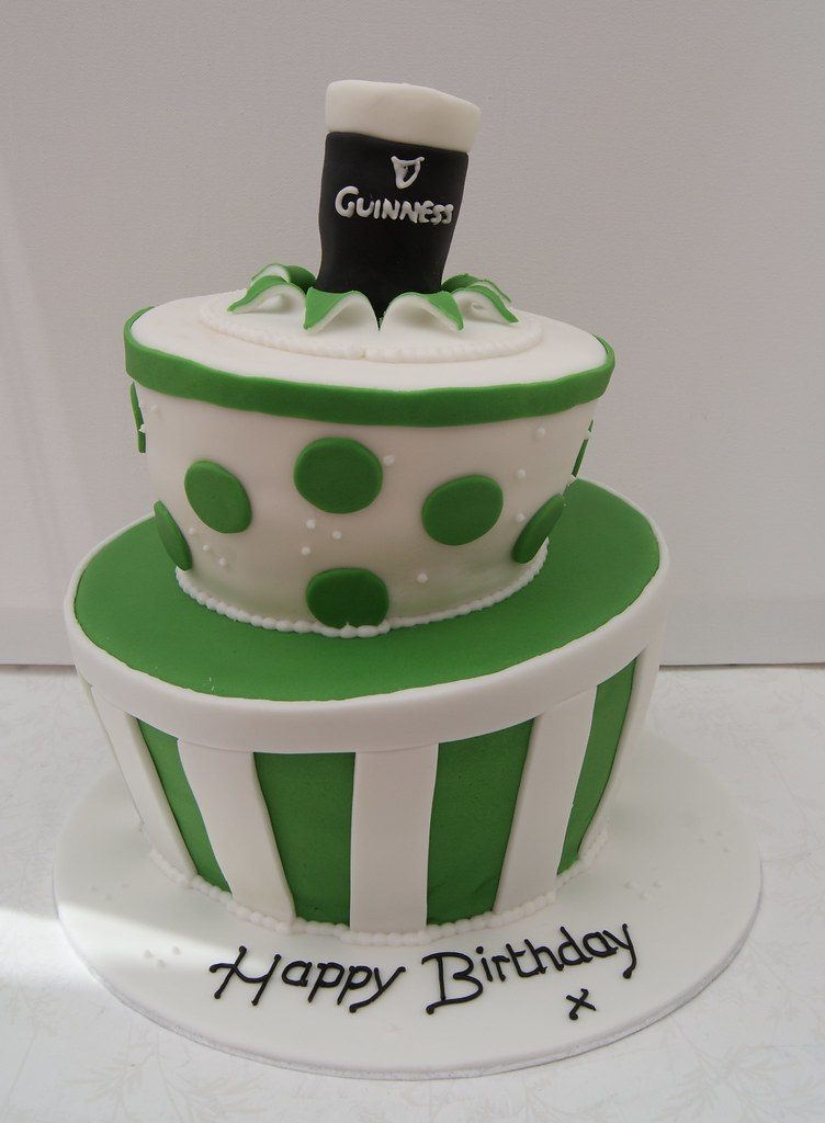 Irish Theme Wonky Birthday Cake