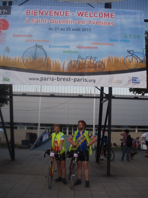 me and Alex at the start