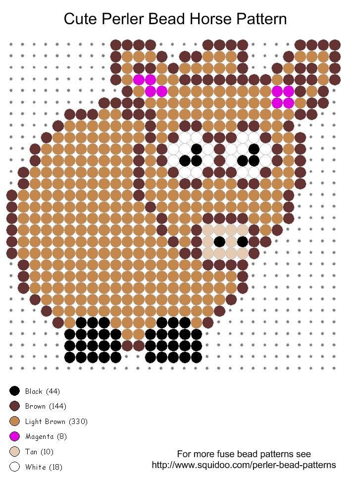 Cute horse perler bead pattern | Cute horse perler bead patt