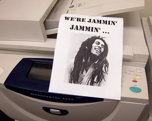 "the Robert Nesta ""Bob"" Marley memorial copy machine 