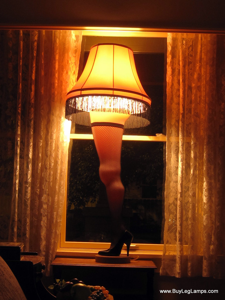 Leg Lamps From A Christmas Story.The Leg Lamp At A Christmas Story House The Soft Glow Of
