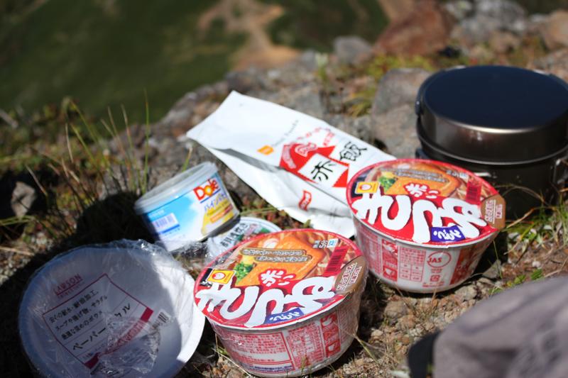 赤岳で食べる赤いもの