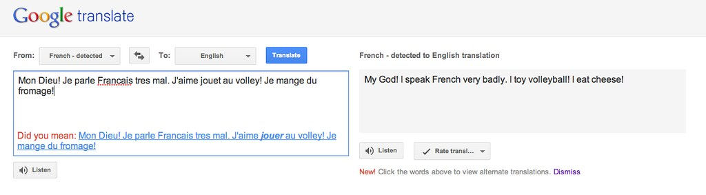 Google French Grammar Check?? | So Google now grammar checks… | Flickr