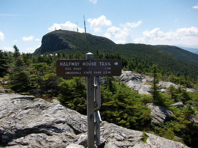 2:48:03 (65%): sign vermont hiking mtmansfield greenmountains longtrail
