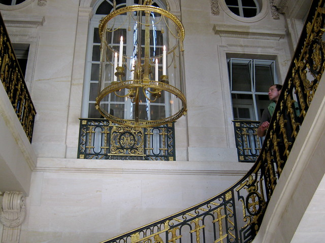 stairwell of the Petit Trianon