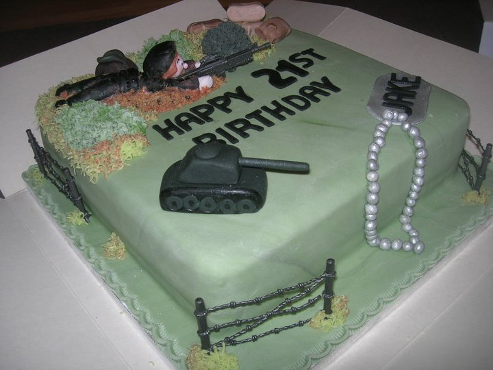 Excellent Military Army Tanks Birthday Cake A Photo On Flickriver Personalised Birthday Cards Paralily Jamesorg