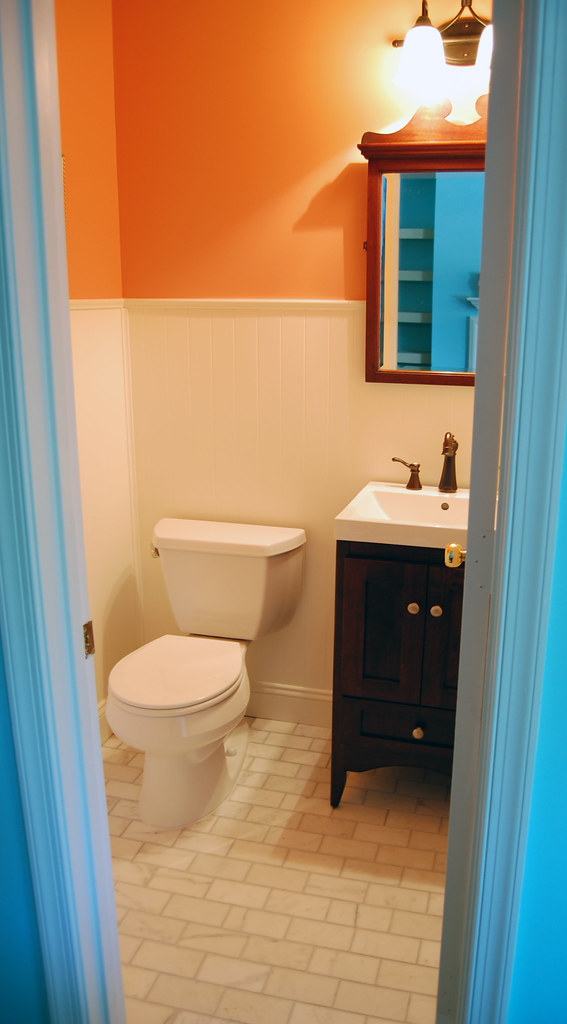 Powder Room Renovation (Before & After)