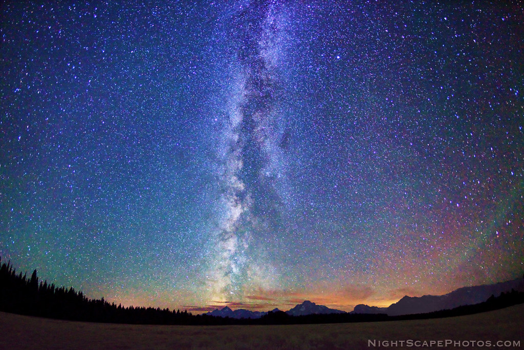 BiG starry night sky | Wide angle, panoramic view (180 degre… | Flickr