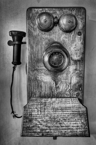 Old Phone Black and White | by Photomatt28