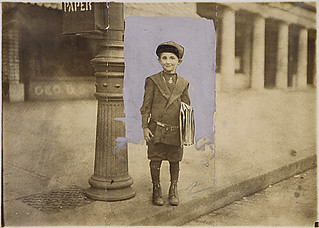 Photograph of a 7 year old news-boy (William Parralla), 04/14/1912