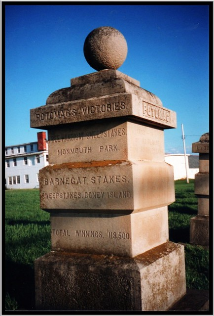 Sanford Stud Farms ~ Amsterdam NY ~ Film early 90's ~ Pillars for noted achievements.