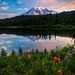 Morning Glory (Sunrise at Reflection Lake Mt Rainier HDR) by Fresnatic