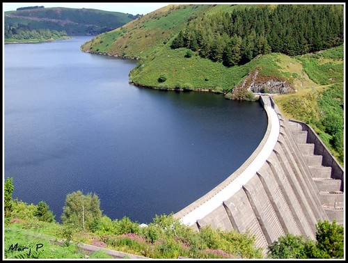 lake water wales fuji dam riversevern finepix llanidloes powys llynclywedog severntrent