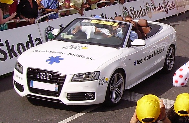 Medical assistance at the Tour de France