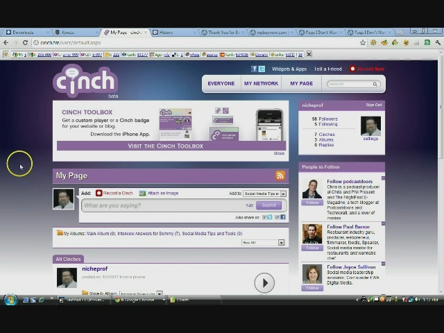Video Showing How to Use Cinchcast to Embed Audio On Your Blog