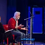 John Byrne on stage |