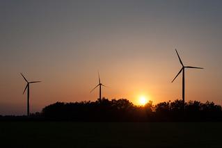 Windmills & Sunset near Kevelaer, Germany