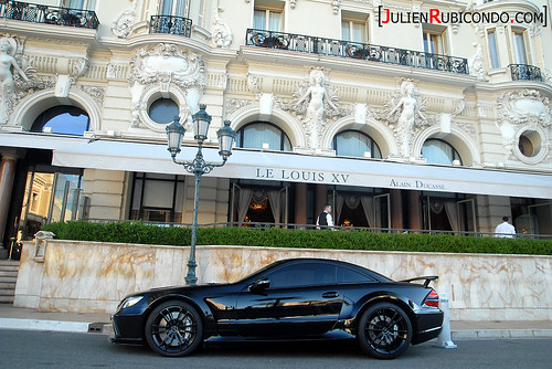 SL65 Black Series in front of the Louis XV - Hôtel de Paris | by Julien Rubicondo Photography