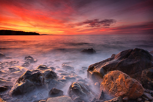 park sunrise canon dawn maine newengland national hunterspoint acadia waterfallguy