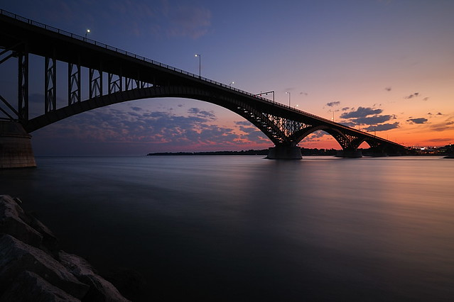 Fresh Take on the Peace Bridge at Sunset (DSG_7442)