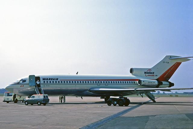 CF-FUN Boeing 727-11 Wardair Canada MAN 18JUN70