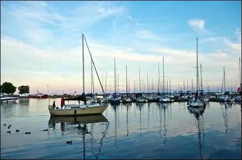 sunset ontario sailboat lakeontario cobourg heritageharbour cobourgmarina