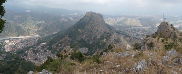 Panorama Stilo Pazzano e Bivongi da Monte Stella 2011