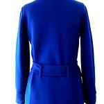 【ヨーロッパ古着】ロンドン買付 ヴィンテージ ブルー ウール コート:古着 11PO94【美品】