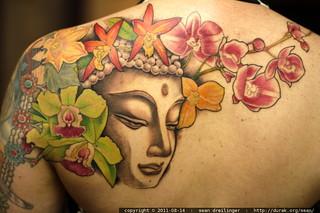 new tattoo - buddha on rachel's back - MG 7882.JPG | by sean dreilinger