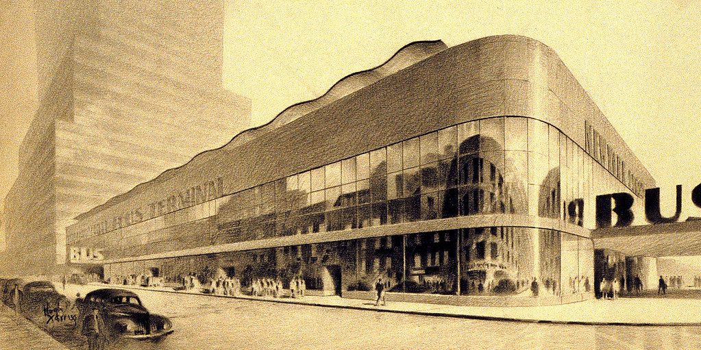 ... Bus Terminal- Hugh Ferriss