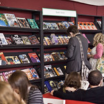 Browsing the graphic novels  