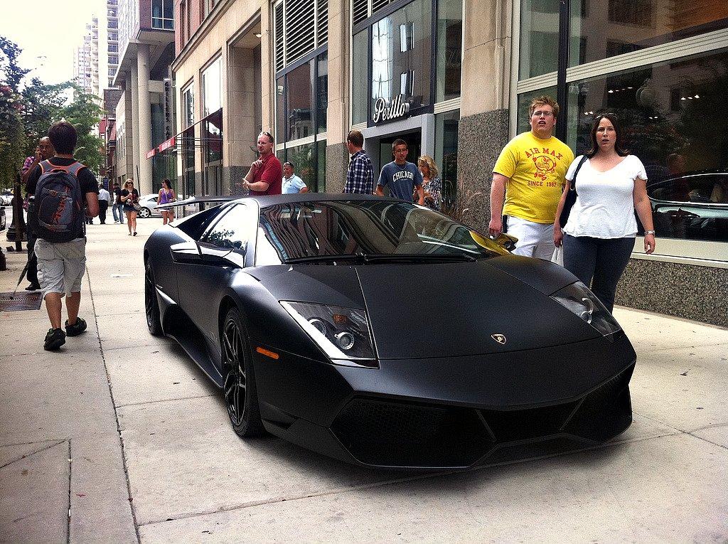 Matte Black Lamborghini Murcielago Sv Brian Lee Flickr