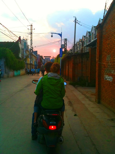 moped sunset | by daveterry