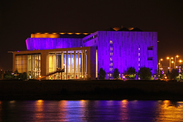 The Palace of Arts from outside - night shot