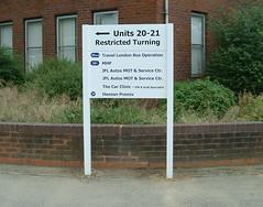 Slat Style directional sign
