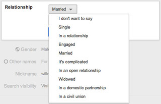 Google+ Relationship Status | by Will Norris