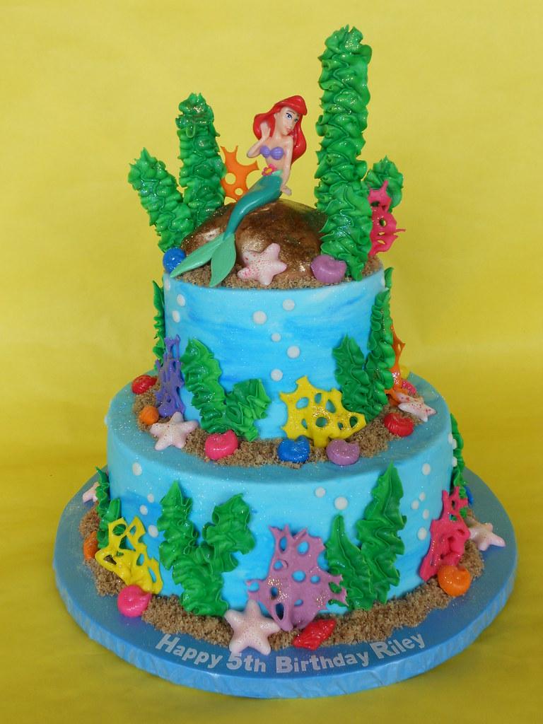 Astounding Ariel Under The Sea Birthday Cake Amy Stella Flickr Funny Birthday Cards Online Eattedamsfinfo